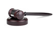 Judges brown wooden gavel