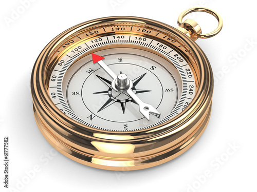 canvas print picture Gold compass