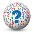 """QUESTIONS"" Globe (faq answers questions marks information help)"