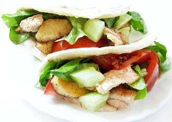 Chicken and Vegetables Kebab