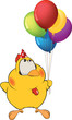 Chicken and toy balloons