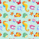 Sea creatures background