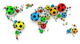 Soccer Ball World Map