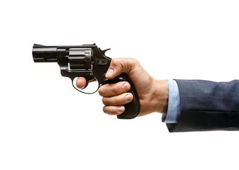 Revolver in hand