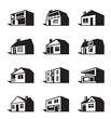 Various types of houses - vector illustration
