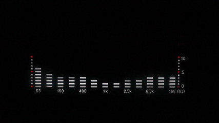playing equalizer graph on black background, HD 1080p