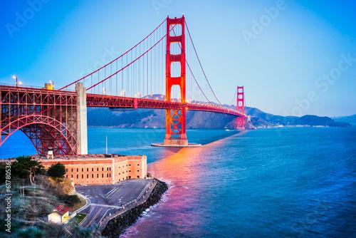 Poster, Tablou Golden Gate, San Francisco, California, USA.