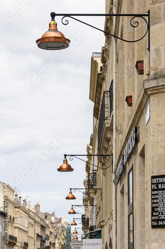 Copper lamp post in Bordeaux.