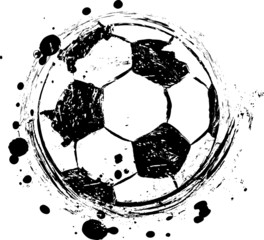 soccer / football illustration, free copy space, with soccer bal