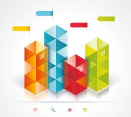 Modern Design template isometric style.