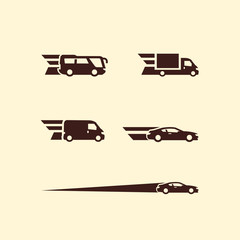 Transportation. Vector format