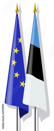 Flags: Europe and Estonia together