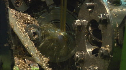 Working milling machine, slow-motion 60fps