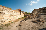The ruins of the ancient town of Nessebar in Bulgaria