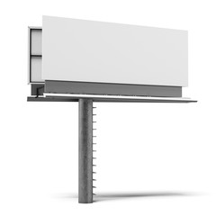Blank billboard isolated