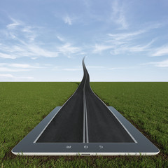 Road to the sky from tablet pc