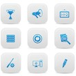 Web buttons,Blue version,on white background