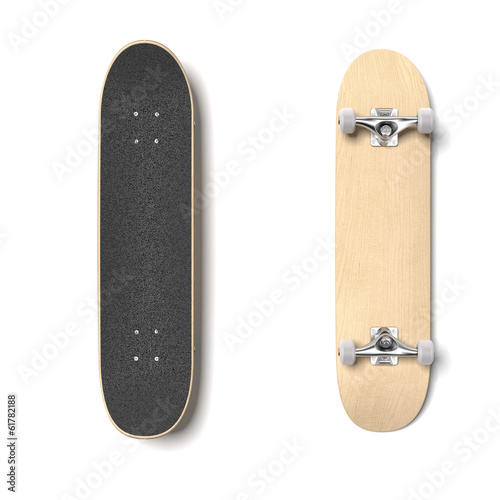 Leinwanddruck Bild Skateboard deck isolated
