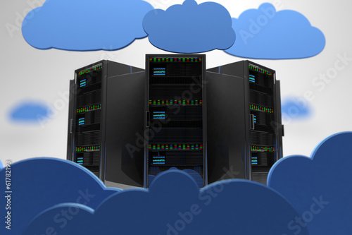 Cloud Servers Creative Concept