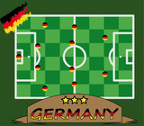 German soccer players vector