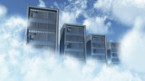 Cloud Servers Computing Creative Concept