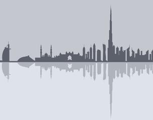Dubai Skyline-Vector