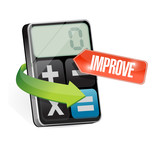 calculator and improve sign illustration