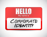 corporate identity name tag illustration design