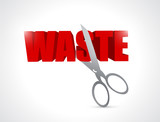 cut waste illustration design
