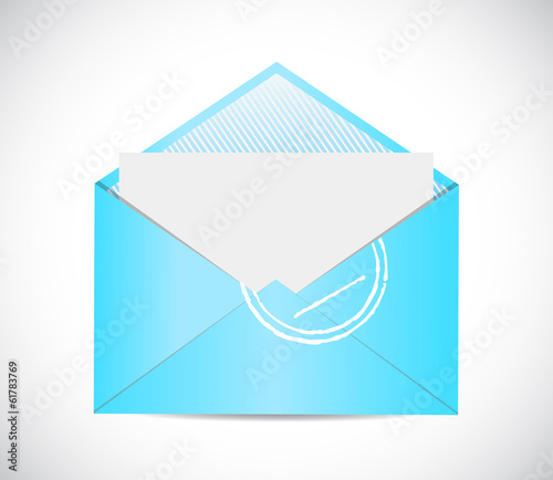 blue envelope email illustration design