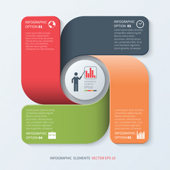 Modern Business Infographics Template.Vector illustration