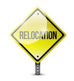 relocation sign illustration design poster