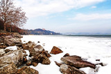 Lake Balaton in winter time,Tihany,Hungary