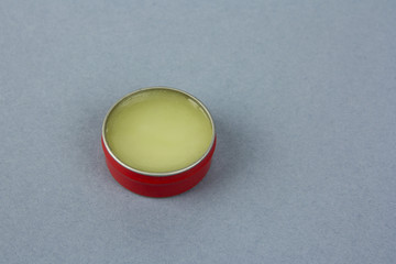 Small round metal container