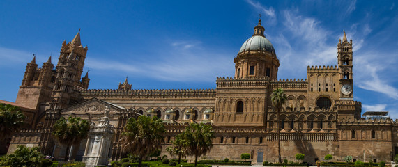 Panorama of the cathedral of Palermo