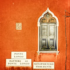 beautiful window in Venice