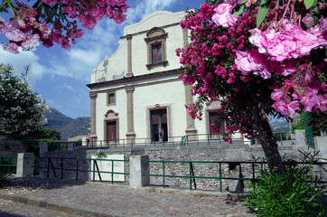 church in Lipari, Aeolian Islands, Sicily, Italy