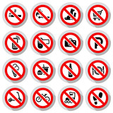 Prohibited symbols set