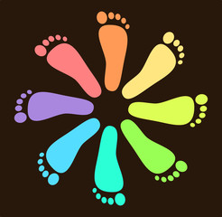 Colored Footprint Design