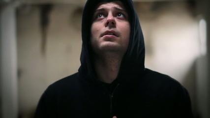 Criminal Man Hood Praying God Forgiveness Light Face