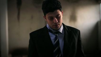 Unhappy Businessman Failure Sad Stress Sadness