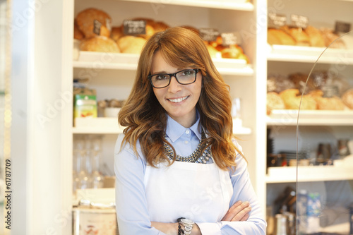 Bakery owner woman