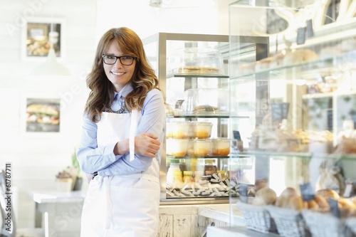 Portrait of bakery shop owner