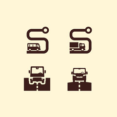 Transportation. Road. Vector format