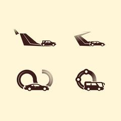 Autocar. Vector format