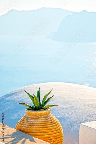 Leinwandbild Motiv Santorini Greece