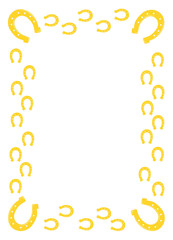 Gold horseshoe border .