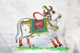 Sacred cow art work - India