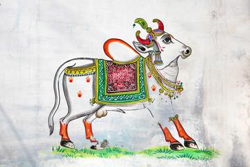 Sacred cow art work - India