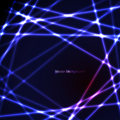 Abstract background with neon lights